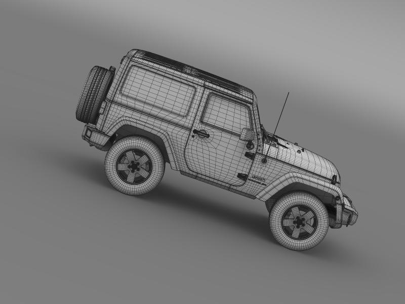 jeep wrangler uk sport 2008 3d model 3ds max fbx c4d lwo ma mb hrc xsi obj 160224