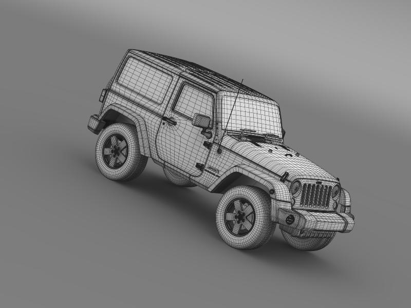 jeep wrangler uk sport 2008 3d model 3ds max fbx c4d lwo ma mb hrc xsi obj 160225