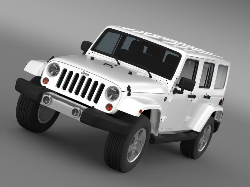 jeep wrangler unlimited 2011 3d model 3ds max fbx c4d lwo ma mb hrc xsi obj 160226
