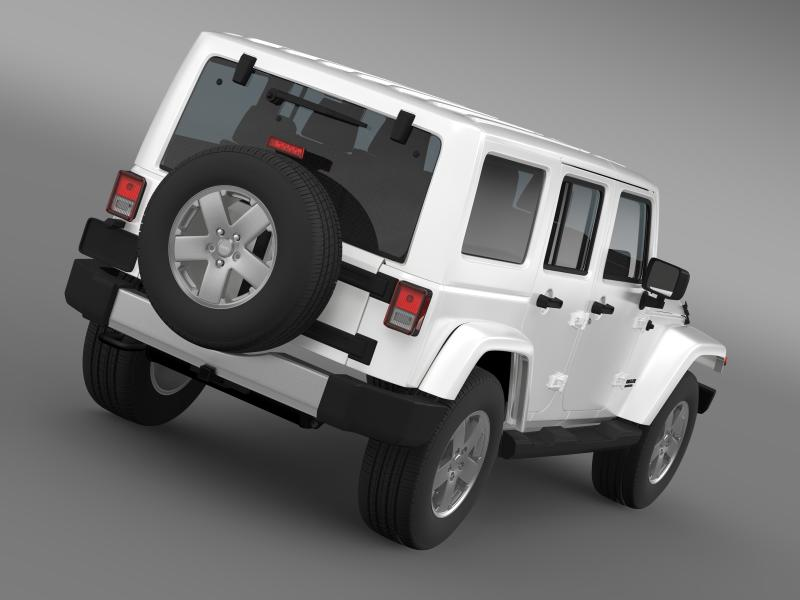 jeep wrangler unlimited 2011 3d model 3ds max fbx c4d lwo ma mb hrc xsi obj 160227