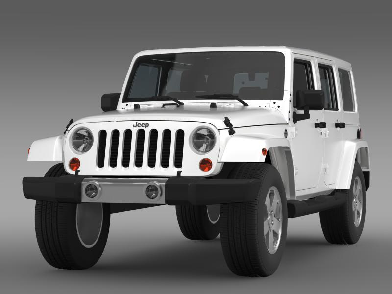 jeep wrangler unlimited 2011 3d model 3ds max fbx c4d lwo ma mb hrc xsi obj 160228
