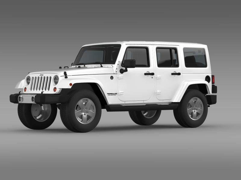 jeep wrangler unlimited 2011 3d model 3ds max fbx c4d lwo ma mb hrc xsi obj 160230