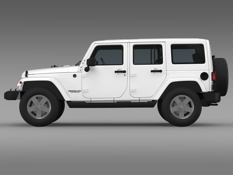 jeep wrangler unlimited 2011 3d model 3ds max fbx c4d lwo ma mb hrc xsi obj 160231