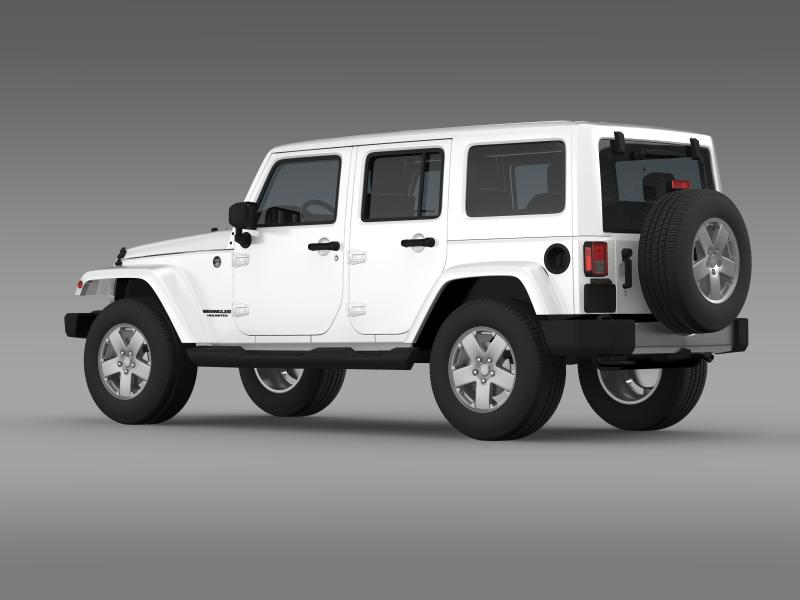 jeep wrangler unlimited 2011 3d model 3ds max fbx c4d lwo ma mb hrc xsi obj 160232
