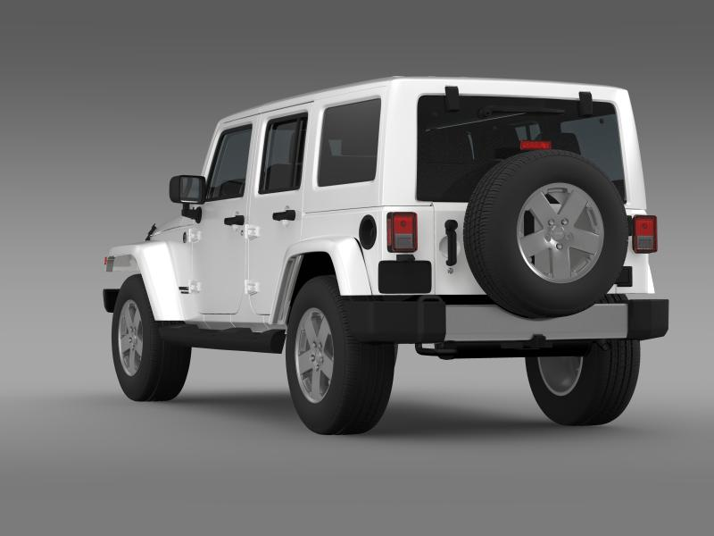 jeep wrangler unlimited 2011 3d model 3ds max fbx c4d lwo ma mb hrc xsi obj 160233