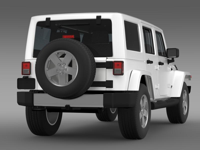 jeep wrangler unlimited 2011 3d model 3ds max fbx c4d lwo ma mb hrc xsi obj 160234