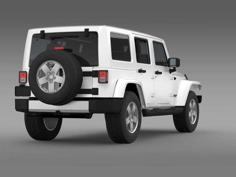 jeep wrangler unlimited 2011 3d model 3ds max fbx c4d lwo ma mb hrc xsi obj 160235