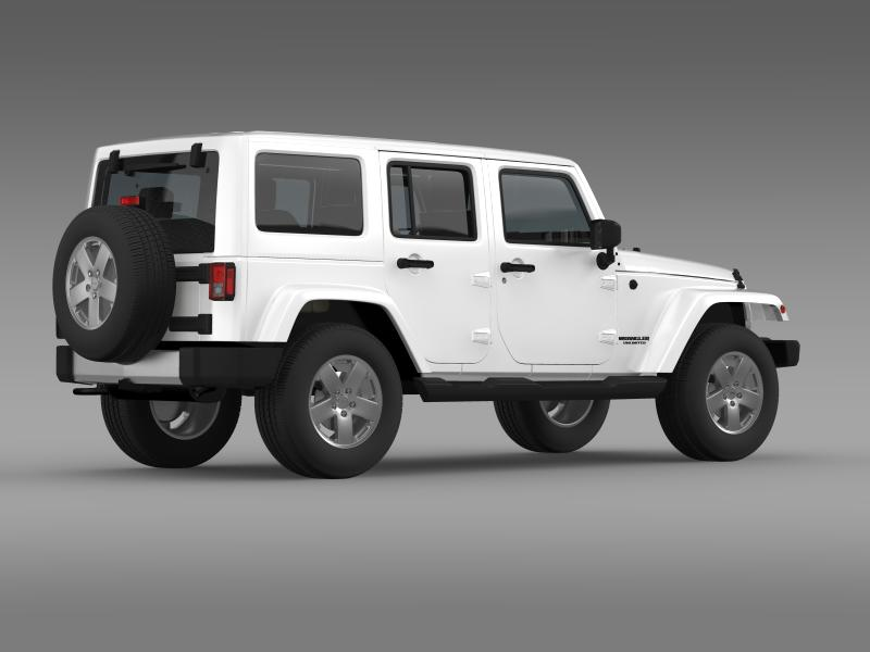jeep wrangler unlimited 2011 3d model 3ds max fbx c4d lwo ma mb hrc xsi obj 160236