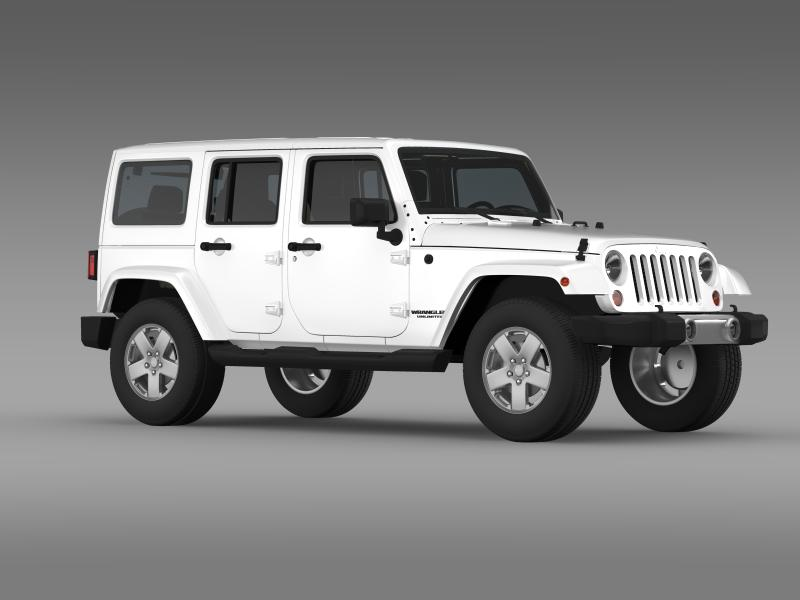 jeep wrangler unlimited 2011 3d model 3ds max fbx c4d lwo ma mb hrc xsi obj 160238