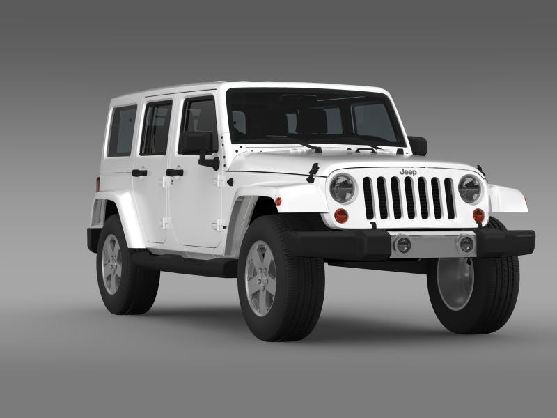jeep wrangler unlimited 2011 3d model 3ds max fbx c4d lwo ma mb hrc xsi obj 160239