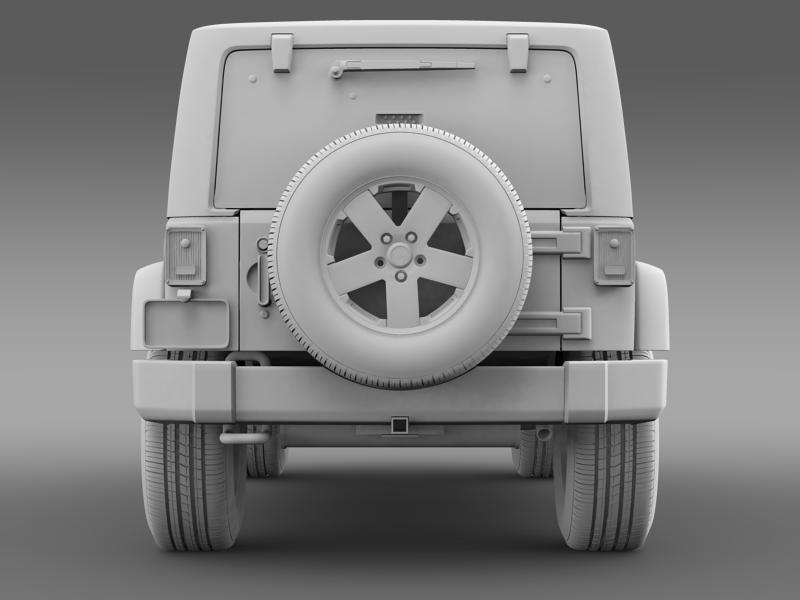 jeep wrangler unlimited 2011 3d model 3ds max fbx c4d lwo ma mb hrc xsi obj 160241