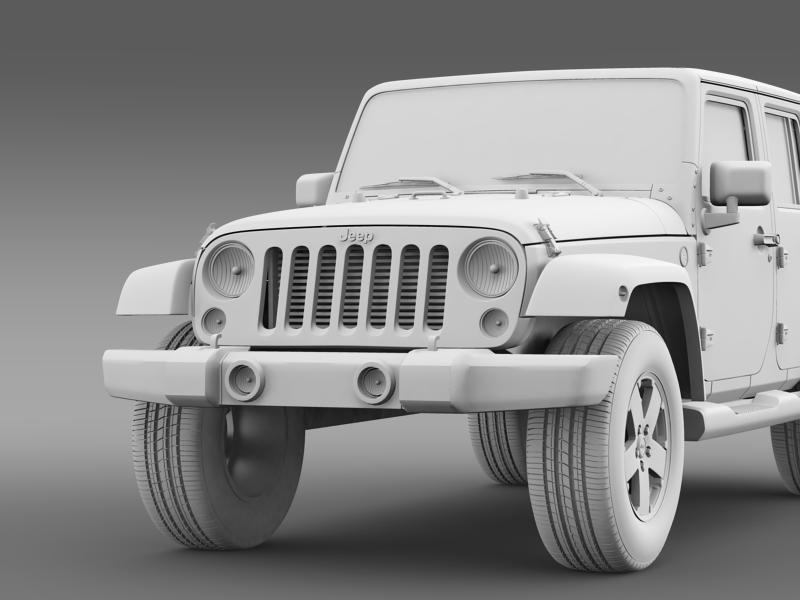 jeep wrangler unlimited 2011 3d model 3ds max fbx c4d lwo ma mb hrc xsi obj 160243