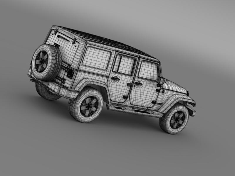 jeep wrangler unlimited 2011 3d model 3ds max fbx c4d lwo ma mb hrc xsi obj 160244