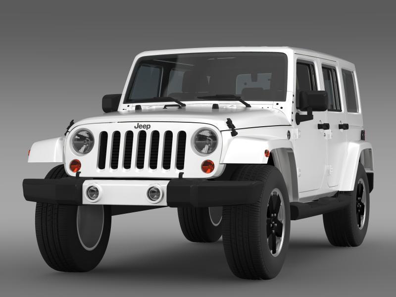 jeep wrangler unlimited altitude 2012 3d model 3ds max fbx c4d lwo ma mb hrc xsi obj 160249