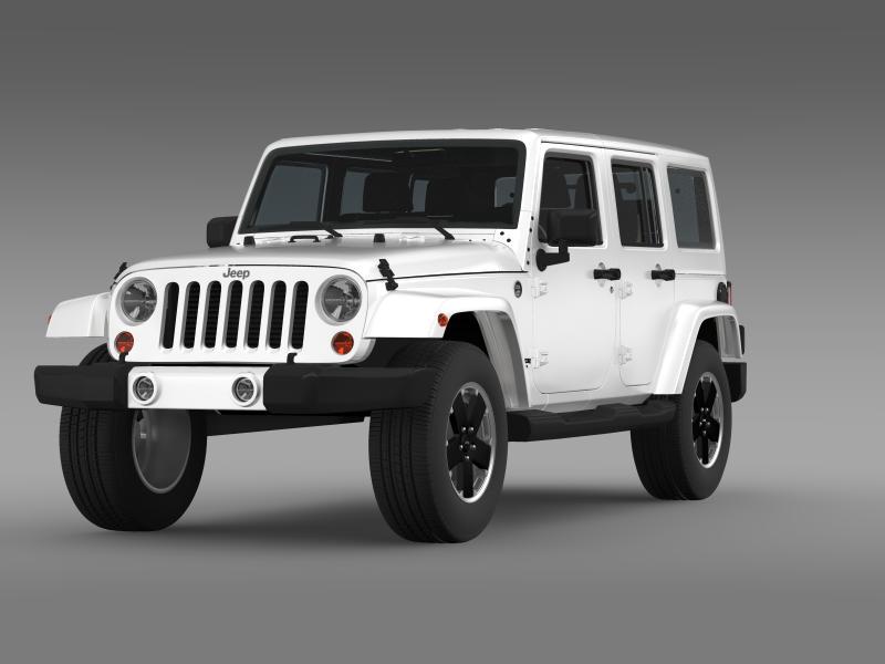 jeep wrangler unlimited altitude 2012 3d model 3ds max fbx c4d lwo ma mb hrc xsi obj 160250