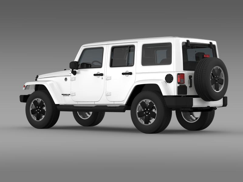 jeep wrangler unlimited altitude 2012 3d model 3ds max fbx c4d lwo ma mb hrc xsi obj 160253