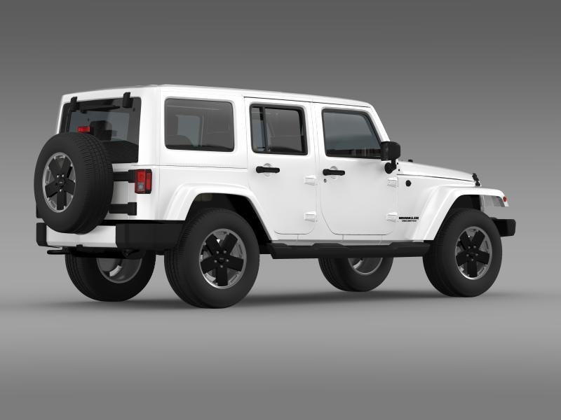 jeep wrangler unlimited altitude 2012 3d model 3ds max fbx c4d lwo ma mb hrc xsi obj 160257