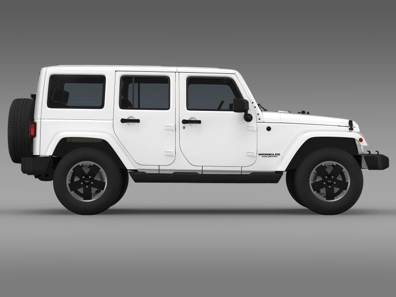 jeep wrangler unlimited altitude 2012 3d model 3ds max fbx c4d lwo ma mb hrc xsi obj 160258