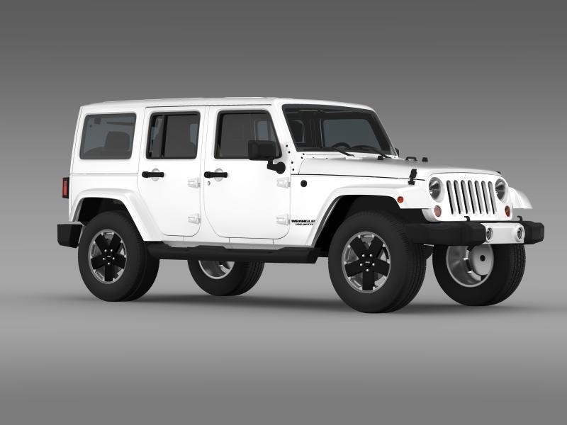 jeep wrangler unlimited altitude 2012 3d model 3ds max fbx c4d lwo ma mb hrc xsi obj 160259