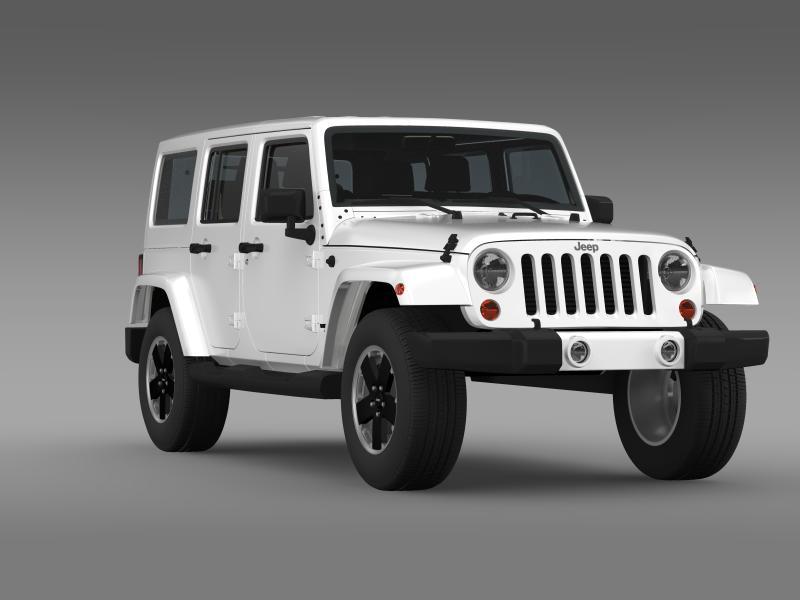 jeep wrangler unlimited altitude 2012 3d model 3ds max fbx c4d lwo ma mb hrc xsi obj 160260