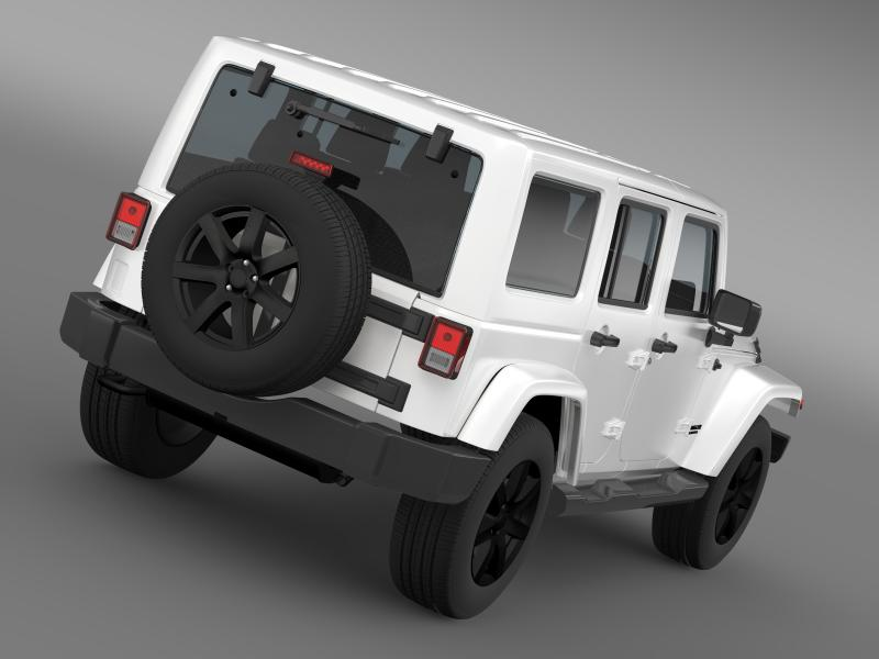 jeep wrangler unlimited altitude 2014 3d model 3ds max fbx c4d lwo ma mb hrc xsi obj 160343
