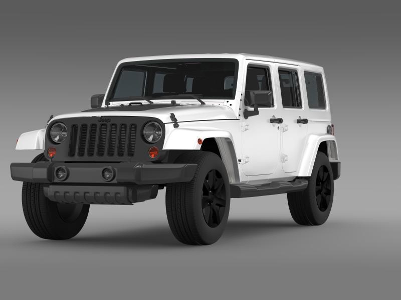 jeep wrangler unlimited altitude 2014 3d model 3ds max fbx c4d lwo ma mb hrc xsi obj 160344