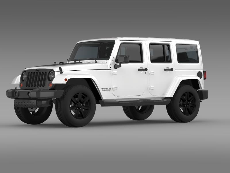 jeep wrangler unlimited altitude 2014 3d model 3ds max fbx c4d lwo ma mb hrc xsi obj 160345