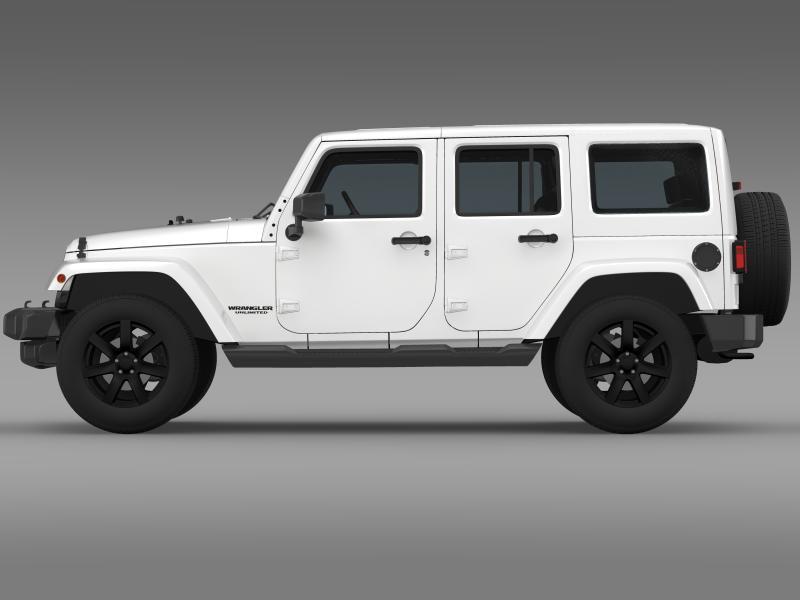 jeep wrangler unlimited altitude 2014 3d model 3ds max fbx c4d lwo ma mb hrc xsi obj 160346