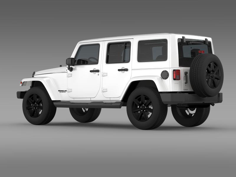 jeep wrangler unlimited altitude 2014 3d model 3ds max fbx c4d lwo ma mb hrc xsi obj 160347