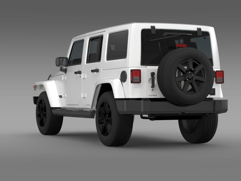 jeep wrangler unlimited altitude 2014 3d model 3ds max fbx c4d lwo ma mb hrc xsi obj 160348