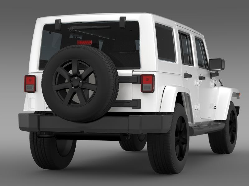 jeep wrangler unlimited altitude 2014 3d model 3ds max fbx c4d lwo ma mb hrc xsi obj 160349