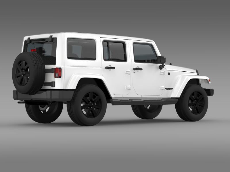 jeep wrangler unlimited altitude 2014 3d model 3ds max fbx c4d lwo ma mb hrc xsi obj 160351