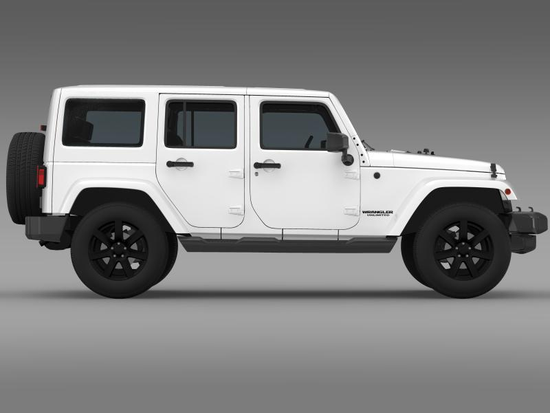 jeep wrangler unlimited altitude 2014 3d model 3ds max fbx c4d lwo ma mb hrc xsi obj 160352