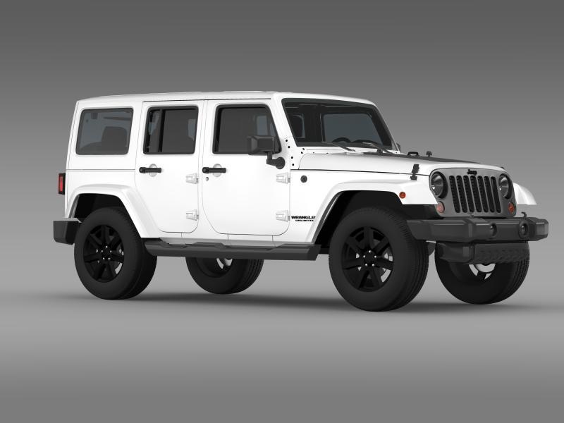 jeep wrangler unlimited altitude 2014 3d model 3ds max fbx c4d lwo ma mb hrc xsi obj 160353