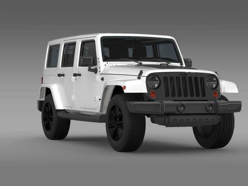 jeep wrangler unlimited altitude 2014 3d model 3ds max fbx c4d lwo ma mb hrc xsi obj 160354
