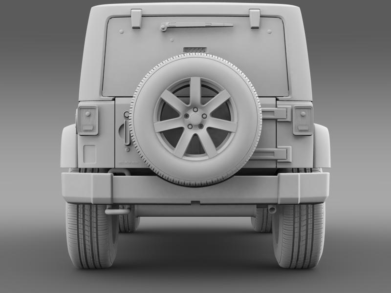 jeep wrangler unlimited altitude 2014 3d model 3ds max fbx c4d lwo ma mb hrc xsi obj 160355