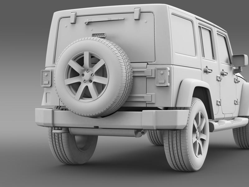 jeep wrangler unlimited altitude 2014 3d model 3ds max fbx c4d lwo ma mb hrc xsi obj 160357