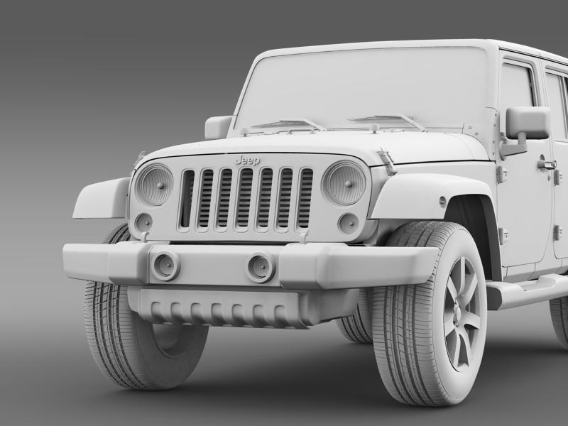 jeep wrangler unlimited altitude 2014 3d model 3ds max fbx c4d lwo ma mb hrc xsi obj 160358