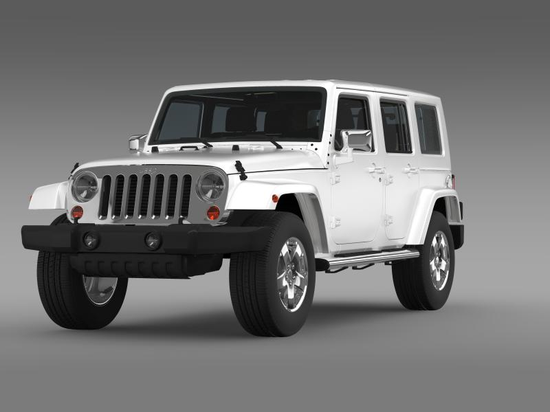 jeep wrangler unlimited envi 3d model 3ds max fbx c4d lwo ma mb hrc xsi obj 160271