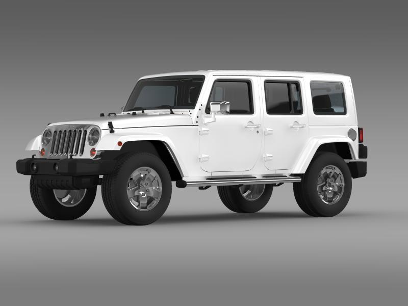 jeep wrangler unlimited envi 3d model 3ds max fbx c4d lwo ma mb hrc xsi obj 160272