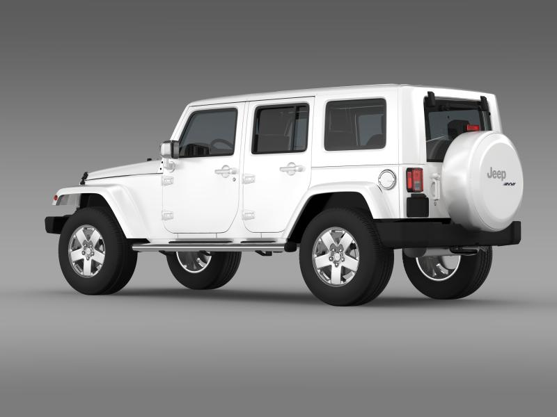 jeep wrangler unlimited envi 3d model 3ds max fbx c4d lwo ma mb hrc xsi obj 160274