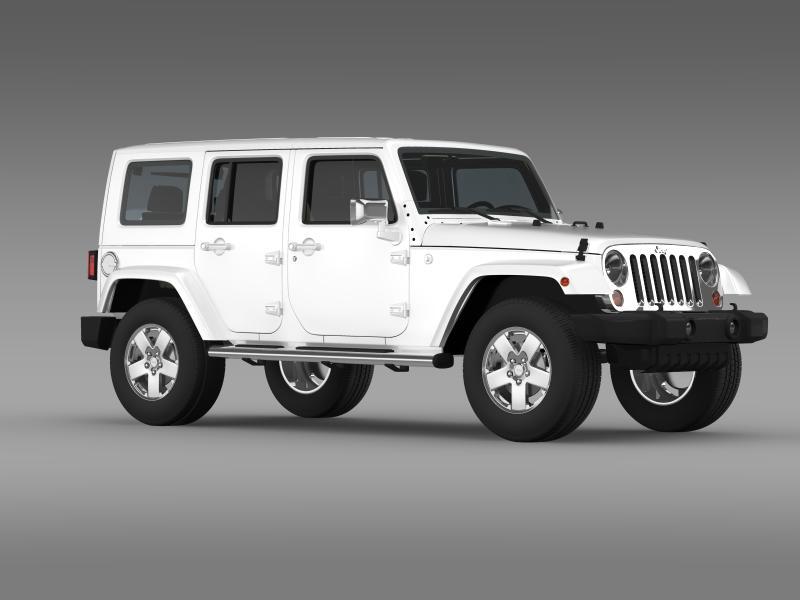 jeep wrangler unlimited envi 3d model 3ds max fbx c4d lwo ma mb hrc xsi obj 160280