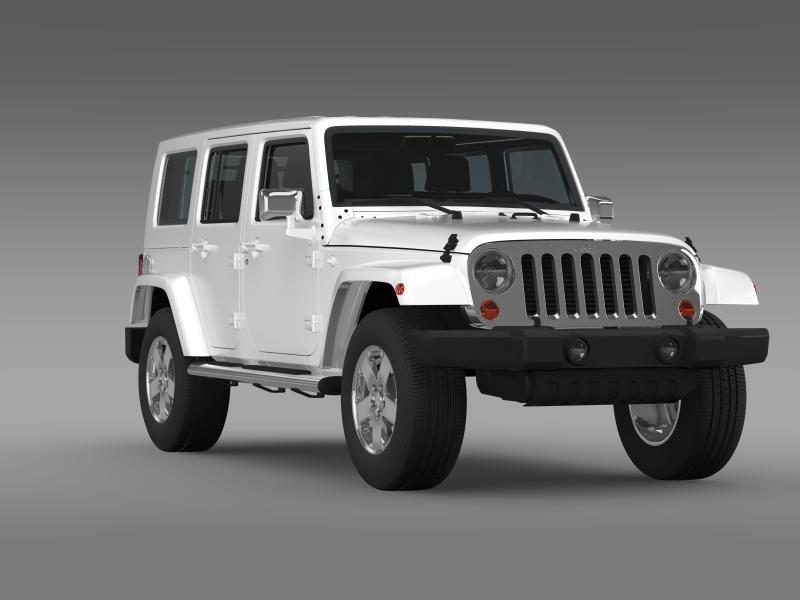jeep wrangler unlimited envi 3d model 3ds max fbx c4d lwo ma mb hrc xsi obj 160281