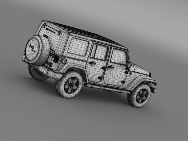 jeep wrangler unlimited envi 3d model 3ds max fbx c4d lwo ma mb hrc xsi obj 160286