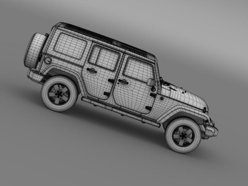 jeep wrangler unlimited envi 3d model 3ds max fbx c4d lwo ma mb hrc xsi obj 160287
