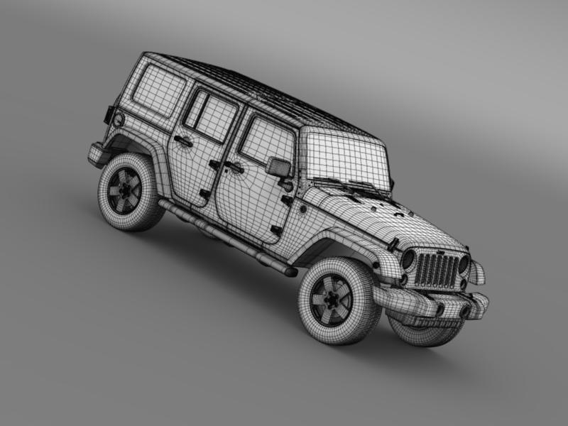 jeep wrangler unlimited envi 3d model 3ds max fbx c4d lwo ma mb hrc xsi obj 160288