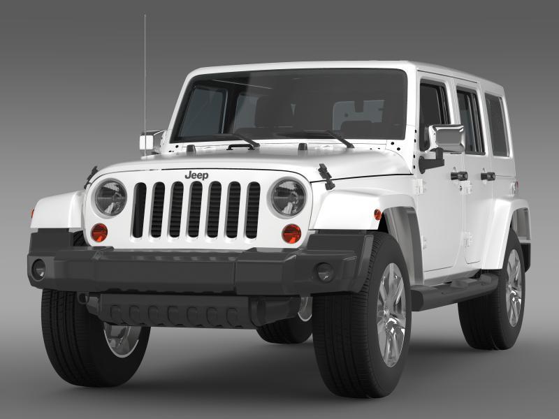 jeep wrangler unlimited indian summer 2014 3d model 3ds max fbx c4d lwo ma mb hrc xsi obj 160364