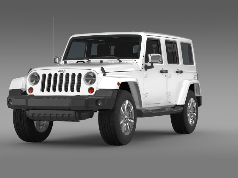 jeep wrangler unlimited indian summer 2014 3d model 3ds max fbx c4d lwo ma mb hrc xsi obj 160365