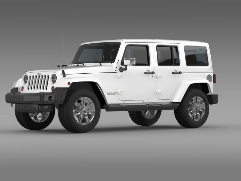 jeep wrangler unlimited indian summer 2014 3d model 3ds max fbx c4d lwo ma mb hrc xsi obj 160366