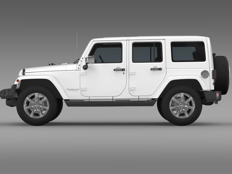 jeep wrangler unlimited indian summer 2014 3d model 3ds max fbx c4d lwo ma mb hrc xsi obj 160367
